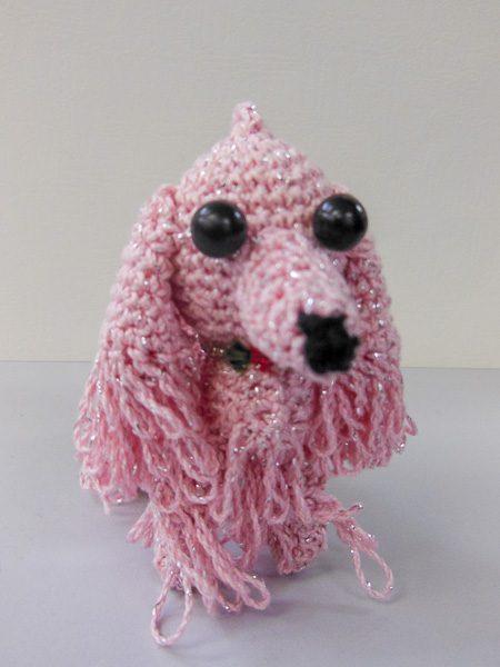 編みぐるみミニプードル(ピンク)